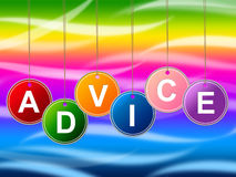 Advice Advisor Indicates Recommendations Advisory And Help Royalty Free Stock Images