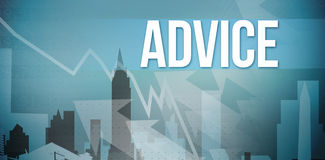 Advice against cityscape stencil design Stock Image