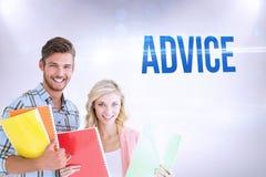 Advice against grey background Stock Image