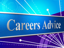 Advice Career Indicates Line Of Work And Advisory. Career Advice Representing Line Of Work And Job Search Royalty Free Stock Photo