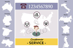 Advice Centre online customer service Royalty Free Stock Photo