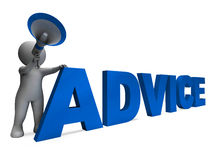 Advice Character Means Guiding Councelling Stock Image