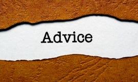 Advice. Close up of Advice concept Stock Photo