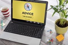 Advice concept on a laptop Stock Photo