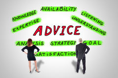 Advice concept watched by business people Royalty Free Stock Image