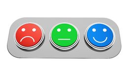 Advice. Customer questionnaire satisfaction comparison quality control test results Royalty Free Stock Image