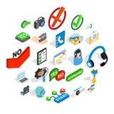 Advice icons set, isometric style. Advice icons set. Isometric set of 25 advice vector icons for web isolated on white background Royalty Free Stock Image