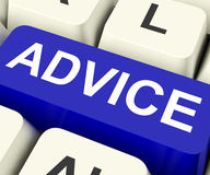 Advice Key Means Recommend Or Suggest Royalty Free Stock Photo