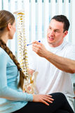Advice - patient at the physiotherapy Stock Photo