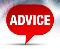 Advice Red Bubble Background royalty free illustration