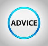 Advice Round Blue Push Button royalty free illustration