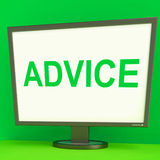 Advice Screen Means Guidance Advise Recommend Stock Images