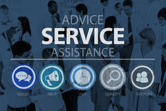 Advice Service Assistance Consultant Support Help Concept Royalty Free Stock Photos