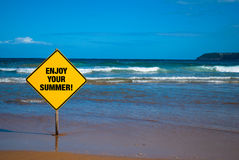 Advice sign on the beach Royalty Free Stock Photo