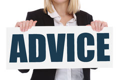Advice support help assistance business concept problem solution Stock Photo