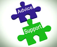 Advice Support Puzzle Means Help Assistance And FAQ Royalty Free Stock Image