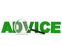 Advice Word Means Advising Advise Stock Photos