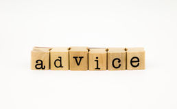 Advice wording isolate on white background Stock Image