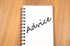 Advice write on notebook Royalty Free Stock Images