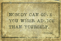 Advice yourself Cicero Stock Images