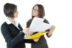 Advices en antwoorden Stock Foto