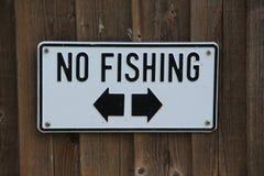 Advirtiendo, ninguna pesca en esta área Fotografía de archivo