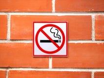 Advirtiendo que el fumar no esté permitido en el área Fotos de archivo libres de regalías