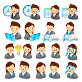 A adviser icon and various Business Man and Woman. Creative Icon Stock Images