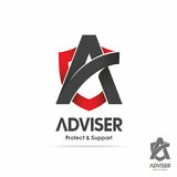 Adviser logotype. Finance logo vector, adviser symbol Stock Image
