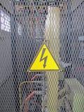 Advisign Aufmerksamkeitssignalgefahr elektrisch Lizenzfreies Stockbild