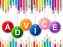 Advisor Advice Indicates Tips Info And Instructions Royalty Free Stock Images