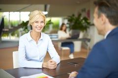 Advisor i klient Obraz Stock