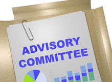 Advisory Committee - business concept. 3D illustration of ADVISORY COMMITTEE title on business document Stock Photos