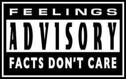 Advisory di sensibilità - cura del ` t di Don di fatti illustrazione vettoriale
