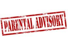 Advisory parental Image libre de droits