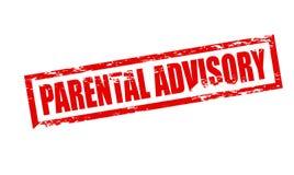 Advisory parental Photographie stock libre de droits