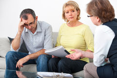 Advisory service for debtors Stock Photo