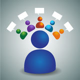 Advisory Team Icon Royalty Free Stock Photography