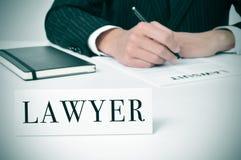Advocaat stock afbeelding