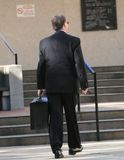 Advocaat die naar Hof gaat Stock Foto
