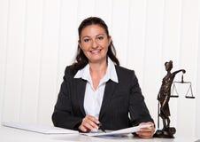 Advocaat in het bureau. Stock Foto's