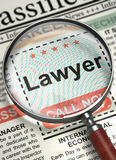 Advocaat Hiring Now 3d Stock Foto's