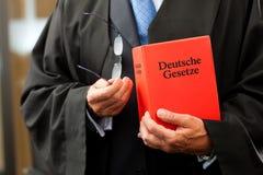 Advocaat met burgerlijk rechtcode stock afbeelding