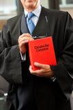 Advocaat met burgerlijk rechtcode royalty-vrije stock foto