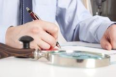 Advocaat, notaris stock fotografie