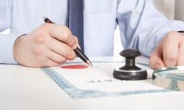 Advocaat, notaris royalty-vrije stock foto