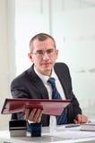 Advocaat op zijn werkplaats Royalty-vrije Stock Foto