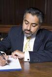 Advocaat Writing Notes royalty-vrije stock afbeeldingen