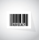 advocacy barcode sign concept illustration Stock Photo