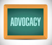Advocacy board sign concept illustration. Design over white stock photography